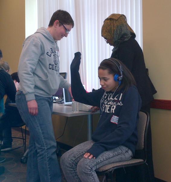 Hearing test demostration