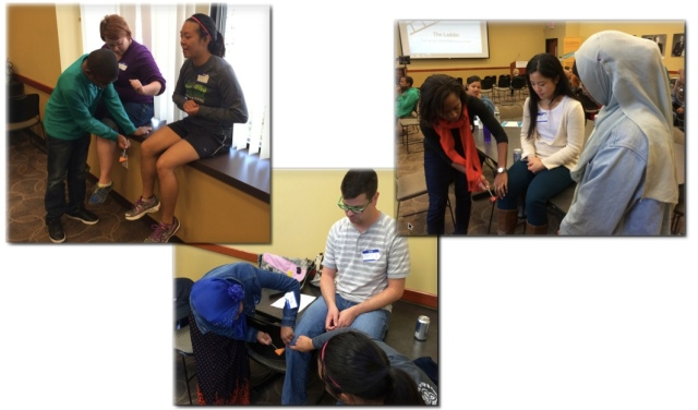 Medical scholars learning about tools like reflex hammers for checking reflexes, part of nervous system function